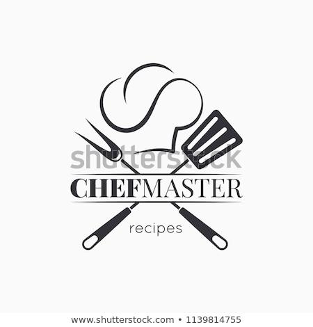 Mester szakács illusztráció munka étterem szolgáltatás Stock fotó © Morphart