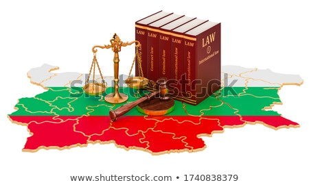A gavel and a law book - Bulgaria Stock photo © Zerbor