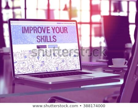Habilidades moderno laptop tela diferente Foto stock © tashatuvango