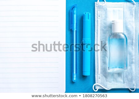 синий · карандашом · изолированный · белый · пер - Сток-фото © tetkoren