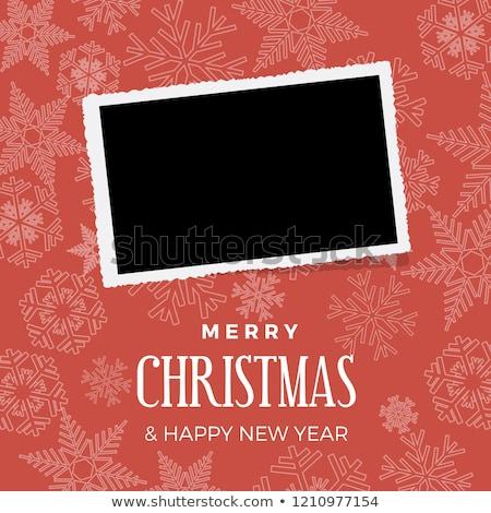 christmas postcard with one frame for photo stock photo © marimorena