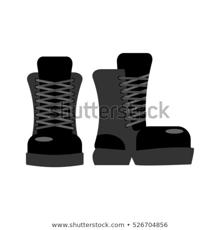 Boot Black Sole Detail Isolated On White Stock foto © MaryValery