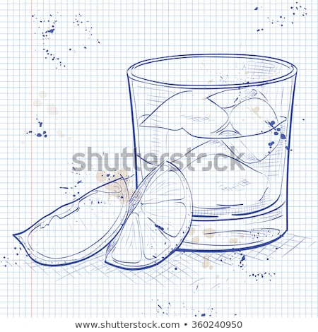 Stock photo: Rusty Nail Cocktail on a notebook page