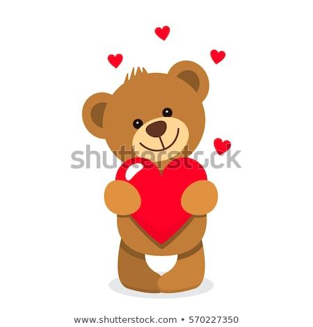Tenha coração brinquedo animal fita criador Foto stock © bedlovskaya