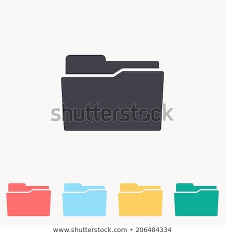 letöltés · mappa · ikon · számítógép · iroda · papír - stock fotó © ayaxmr
