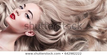 Mode jeune fille belle longtemps blond cheveux Photo stock © majdansky