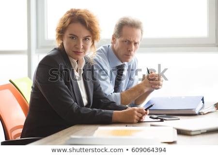 Boos business handdruk zakenman verbergen wapen Stockfoto © ra2studio