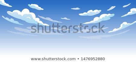 parfait · blanche · pelucheux · céleste · nuages · ciel · bleu - photo stock © clearviewstock