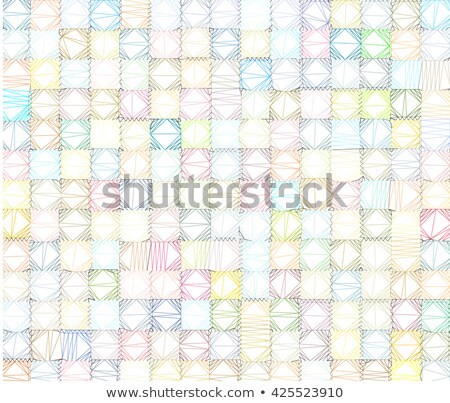 polygonal tiled backdrop in multiple color over white Stock photo © Melvin07