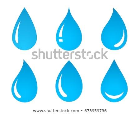 drop · acqua · blu · minerale · logo · usato - foto d'archivio © acong_kecil