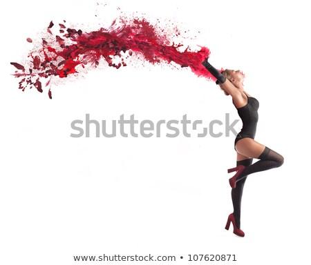 Burleszk előadás illusztráció szexi jókedv női Stock fotó © adrenalina