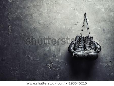старые боксерская перчатка белый изолированный фитнес здоровья Сток-фото © OleksandrO