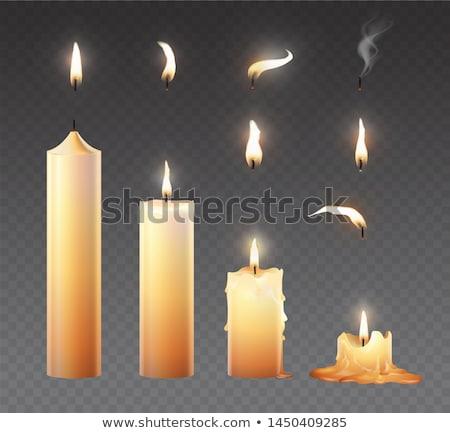 rezando · vela · negro · culto · silueta - foto stock © pakete
