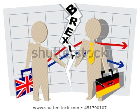 Britain and Germany Brexit. Severance of relations in business Stock photo © orensila