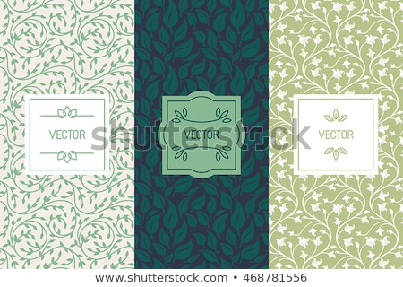 A border made of leaves Stock photo © bluering
