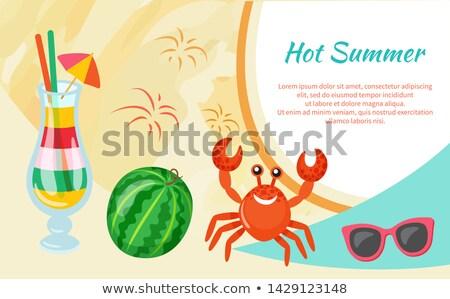 zee · krab · strand · oceaan · zand · leven - stockfoto © adrenalina