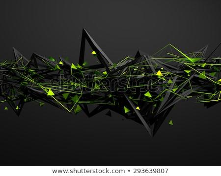 抽象的な · ピラミッド · デザイン · 群衆 · ボックス · 緑 - ストックフォト © MONARX3D