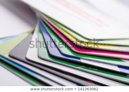 A multi-colored business card Stock photo © bluering