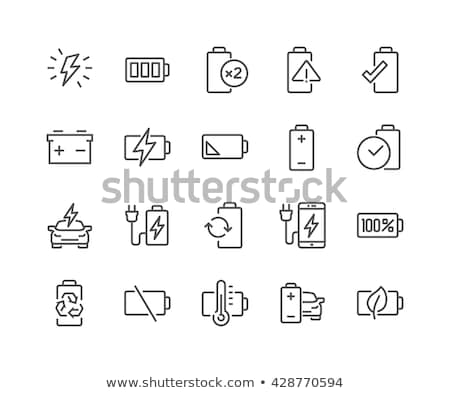 Icons with a battery charging sign Stock photo © bluering