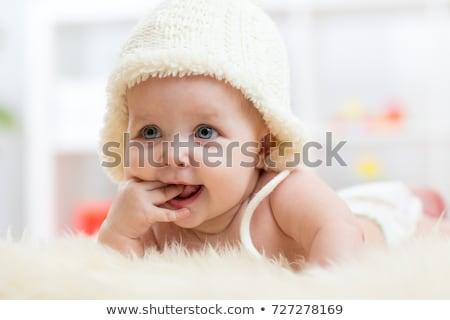 指 · クローズアップ · 肖像 · 赤ちゃん · 顔 - ストックフォト © feedough