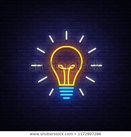 ネオン 電球 シンボル 暗い エネルギー 生活 ストックフォト © Natali_Brill