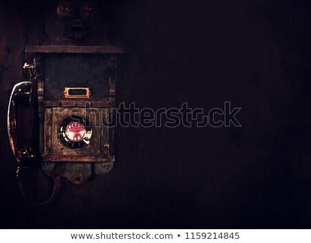 ヴィンテージ 電話 暗い 電話 技術 ケーブル ストックフォト © Valeriy