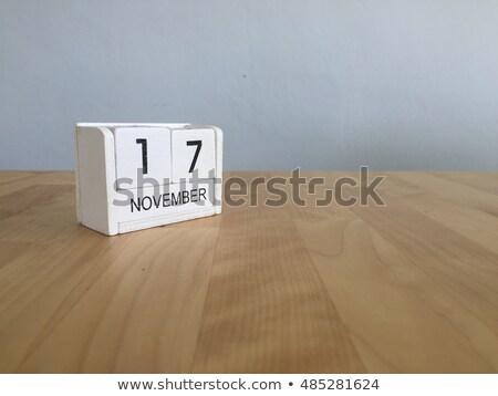 17 · ilustración · calendario · educación · negro · programa - foto stock © oakozhan