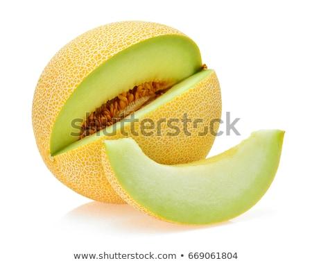 Fresche melone bianco piatto metà fetta Foto d'archivio © Digifoodstock