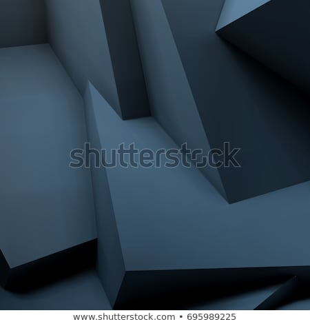Abstract background with overlapping black cubes Stock photo © SwillSkill