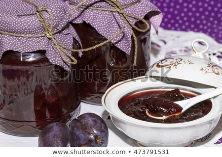 Plum compote in jar Stock photo © Digifoodstock