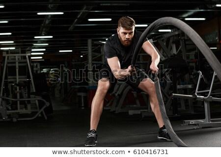 ハンサム 小さな 強い スポーツ 男 ジム ストックフォト © deandrobot