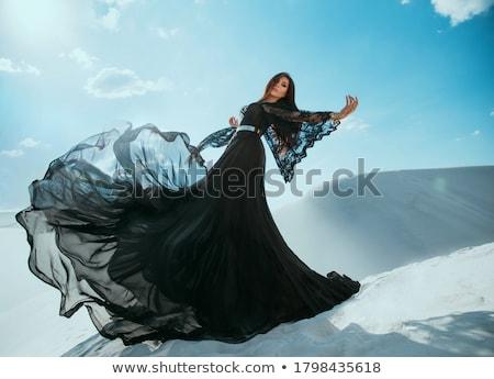 Beautiful girl in lace chiffon dress Stock photo © svetography