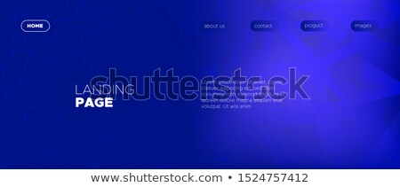 Abstract horizontal background with overlapping blue pyramids Stock photo © SwillSkill