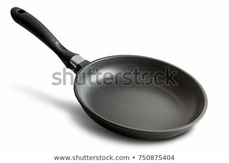 Sartén hierro fundido negro aislado blanco fondo Foto stock © elenaphoto