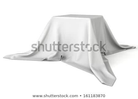 ボックス カバー 白 ファブリック 孤立した 驚き ストックフォト © pakete