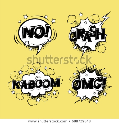 comic speech bubbles set with different emotions and text ka boo stock photo © pashabo