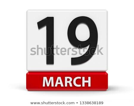 19 clientèle jour calendrier carte de vœux vacances Photo stock © Olena