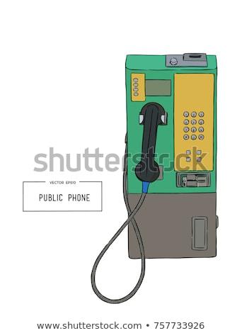 общественного телефон желтый связи Сток-фото © ldambies