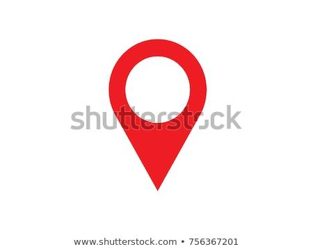 Czarny Pokaż pin kolor biały serca Zdjęcia stock © Ecelop