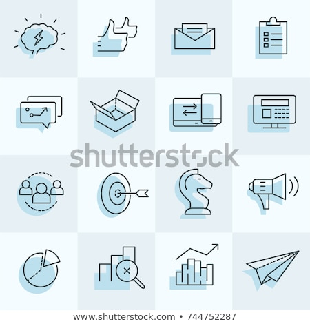 digital marketing icons set including strategy target social m stock photo © dimashiper