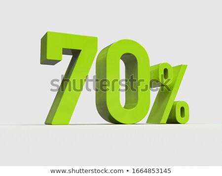 Rouge moins cinquième pour cent signe isolé Photo stock © Oakozhan