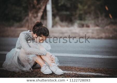 Bad amore bella infelice ragazza piedi Foto d'archivio © MilanMarkovic78