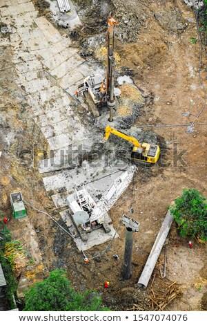 Excavadora metal bares ilustración construcción Foto stock © bluering