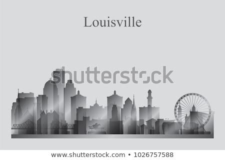 Silueta edificio horizonte panorama paisaje urbano Foto stock © Ray_of_Light