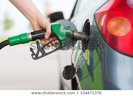 Autó megtankol benzinkút közelkép autó veszély Stock fotó © vlad_star
