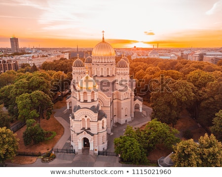 Riga katedral şehir panorama Letonya manzara Stok fotoğraf © benkrut