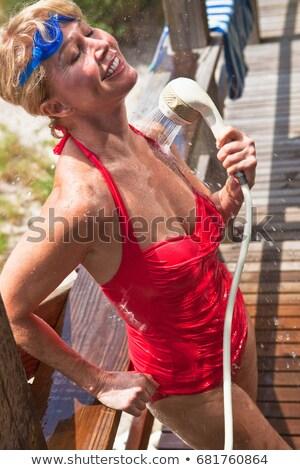 Maillot de bain femme sport rouge Photo stock © IS2