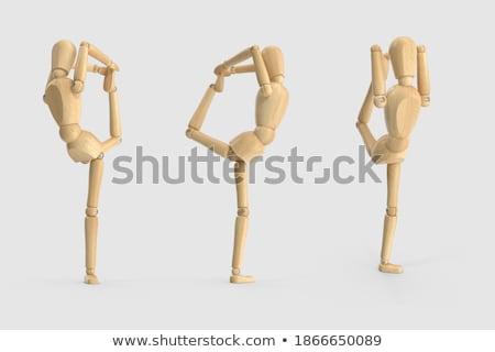 Figurilla ejercicio reunión yoga Foto stock © wavebreak_media