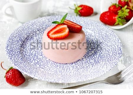 panna cotta with strawberries stock photo © mpessaris