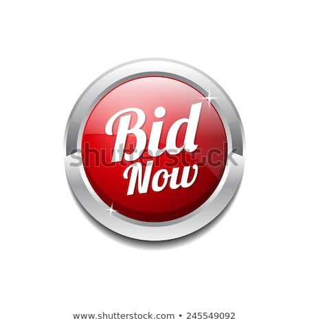 Bid Now Vector Icon Button Design Stock photo © rizwanali3d